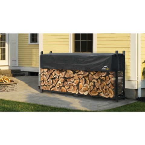 Image of Shelter Logic 90475 8 ft. / 2,4 m Ultra Duty Firewood Rack w/Cover