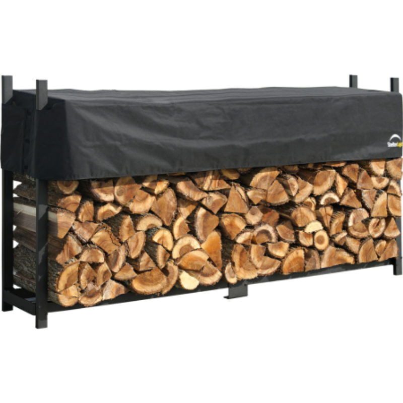 Shelter Logic 90475 8 ft. / 2,4 m Ultra Duty Firewood Rack w/Cover