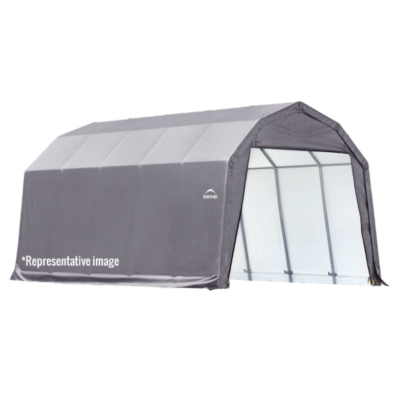 Shelter Logic 97153 12x24x9 Barn Shelter, Grey Cover