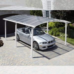 Gazebo Penguin Carport Shelter with Gutter White