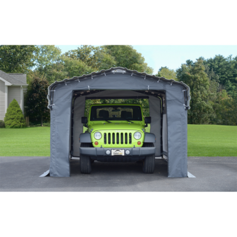 Image of Arrow 10182 10x15 Fabric Carport Enclosure Kit