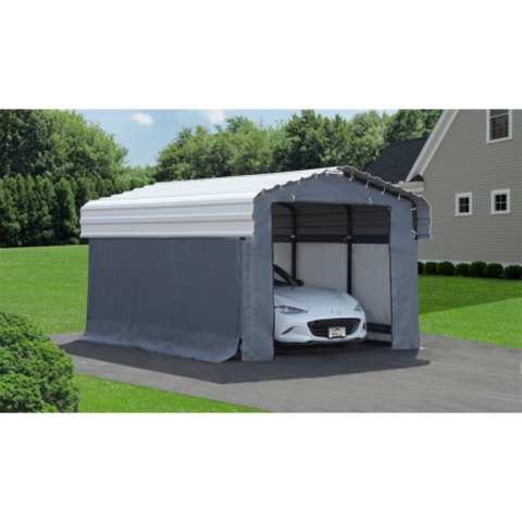 Arrow 10182 10x15 Fabric Carport Enclosure Kit