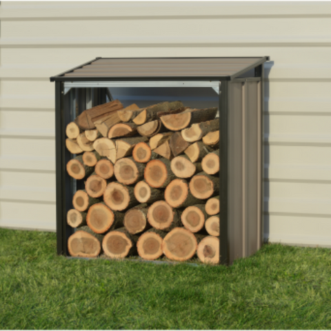 Image of Arrow 90175 FIREWOOD RACK 4X2 MOCHA