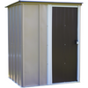 "Arrow BW54-A Brentwood Shed, 5x4, Electro Galvanized Steel, Taupe, Lean-to Roof, 67"" Wall Height, Sliding Door"