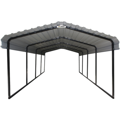 Image of Arrow CPH122007 Arrow® Carport, 12x20x7, 29 Gauge Galvanized Steel Roof Panels, 2 in. (5 cm) Square Tube Frame