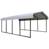 Arrow CPH122007 Arrow® Carport, 12x20x7, 29 Gauge Galvanized Steel Roof Panels, 2 in. (5 cm) Square Tube Frame