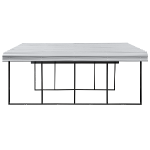 Arrow CPH202007 Carport, 20x20x07, Eggshell