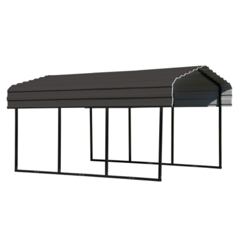 Image of Arrow CPHC101507 Carport 10X15x7 CHARCOAL