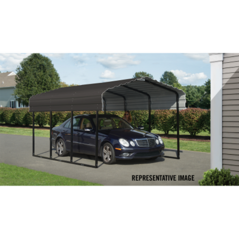 Image of Arrow CPHC102007 CARPORT 10X20X07 CHARCOAL