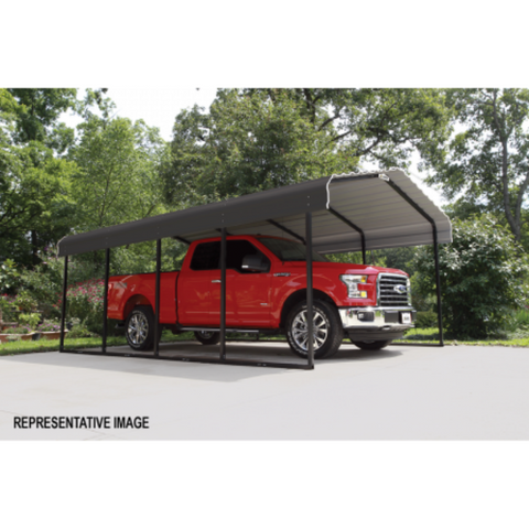 Image of Arrow CPHC102407 CARPORT 10X24X07 CHARCOAL