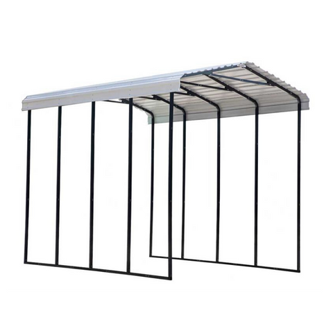 Arrow RV Carport, 14 x 20 x 14 - Eggshell