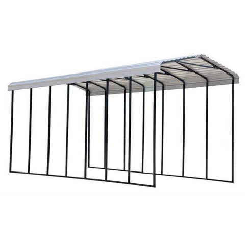 Arrow RV Carport, 14 x 33 x 14 - Eggshell