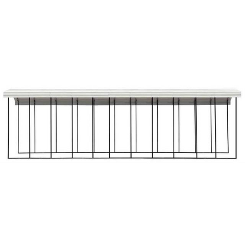 Image of Arrow RV Carport, 14 x 51 x 14 - Eggshell