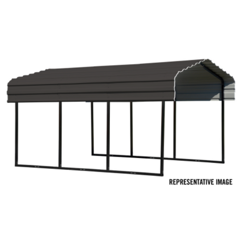 Image of Arrow CPHC102907 CARPORT 10X29X07 CHARCOAL