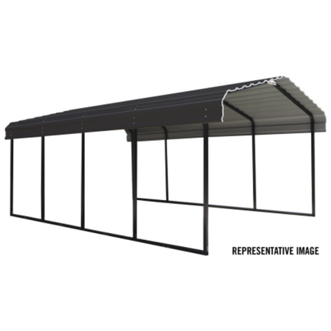 Image of Arrow CPHC122407 CARPORT 12X24X07 CHARCOAL
