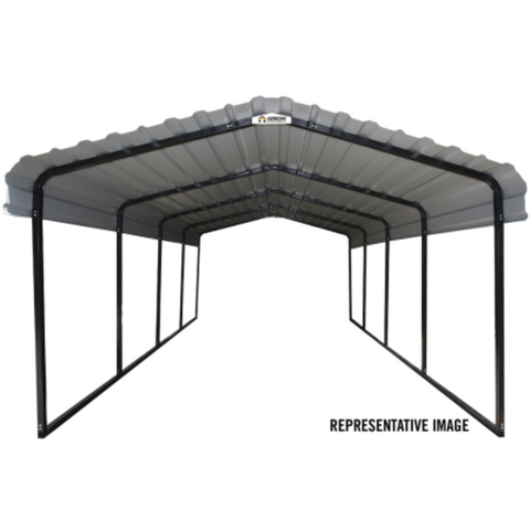 Image of Arrow CPHC122907 CARPORT 12X29X07 CHARCOAL