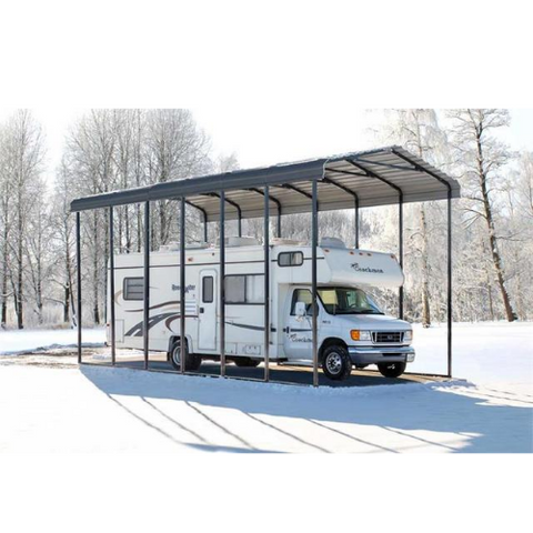 Arrow RV Carport, 14 x 29 x 14 - Charcoal