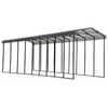 Arrow RV Carport, 14 x 42 x 14 - Charcoal