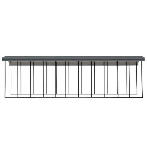 Image of Arrow RV Carport, 14 x 51 x 14 - Charcoal