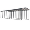 Arrow RV Carport, 14 x 51 x 14 - Charcoal