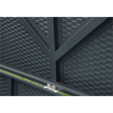 Image of Arrow DBBWAN Spacemaker® Deck Box, Basket Weave, Anthracite