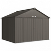 Arrow EZ10872HVCC EZEE Shed® , 10x8, Extra High Gable, 72 in walls, vents, Charcoal