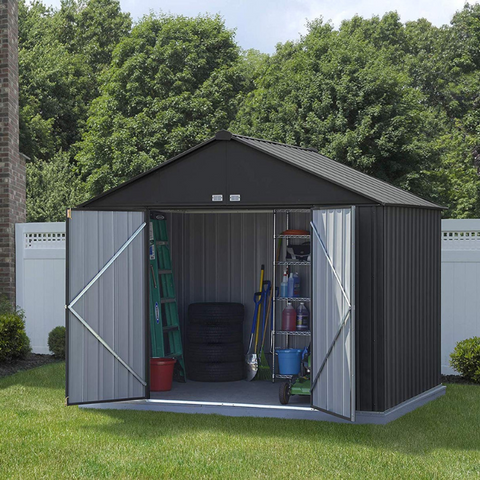 Image of Arrow EZ10872HVCC EZEE Shed® , 10x8, Extra High Gable, 72 in walls, vents, Charcoal