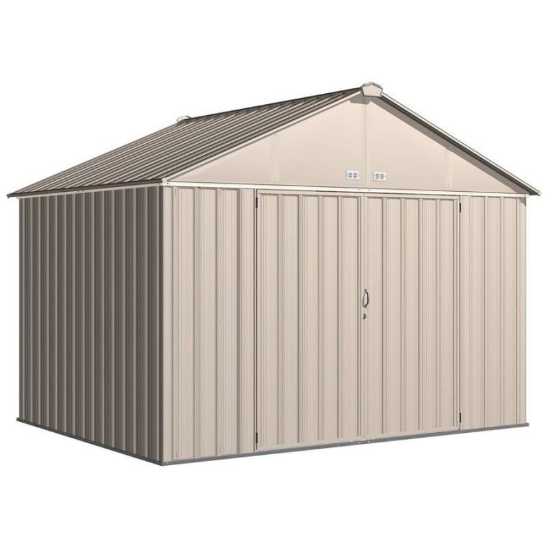 Arrow EZ10872HVCR EZEE Shed® , 10x8, Extra High Gable, 72 in walls, vents, Cream