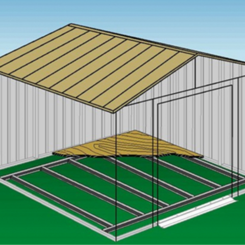 Image of Arrow FB1014-A FLOOR FRAME KIT for 10x11, 10x12, 10x13 & 10x14