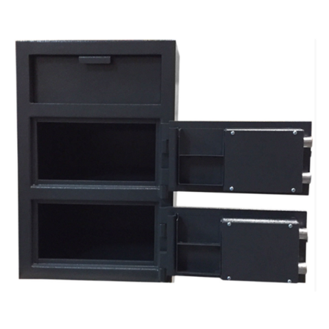 Hollon FDD-3020CK Double Door Depository Safe with Key Lock