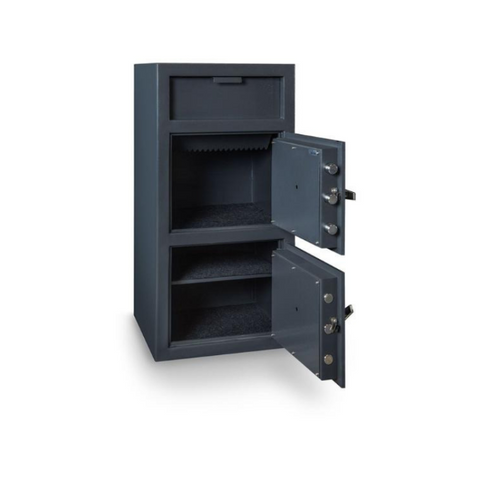 Hollon FDD-4020EE Double Door Depository Safe with Electronic Lock