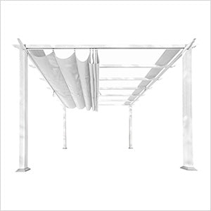 Paragon Outdoor Florence 11x11 White Aluminum Pergola/White Color Convertible Canopy