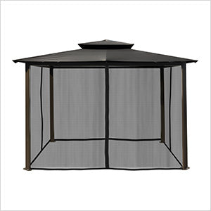 Paragon Outdoor Barcelona 10x12 Gazebo with Grey Top & Mosquito Netting