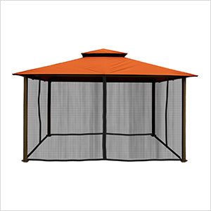Paragon Outdoor Kingsbury 11x14 Gazebo with Rust Top & Mosquito Netting