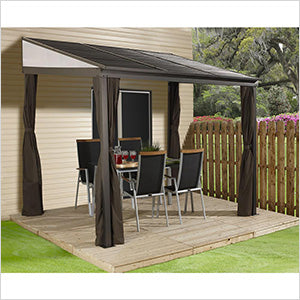 Sojag Portland 10 x 14 ft. Wall Gazebo