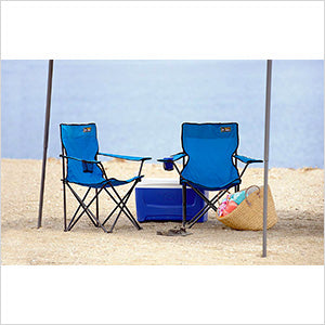 Quik Shade Blue Quad Chair