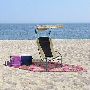 Image of Quik Shade Tan/Black Pro Comfort High Back Shade Chair