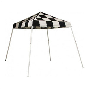 ShelterLogic 22579 8x8 SL Pop-up Canopy, Checkered Flag Cover, Carry Bag