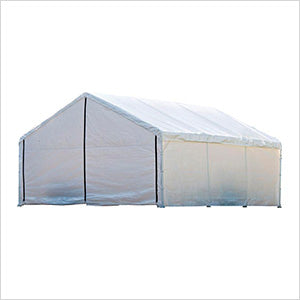 ShelterLogic 26775 18×20 White Canopy Enclosure Kit; FR Rated