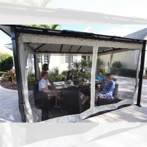 Paragon Outdoor Durham 10x13 Hard Top Gazebo with Mosquito Netting