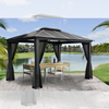 Paragon Outdoor Santa Monica 11x13 Hard Top Gazebo with Mosquito Netting