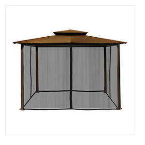 Paragon Outdoor Barcelona 10x12 Gazebo with Coca Top & Mosquito Netting