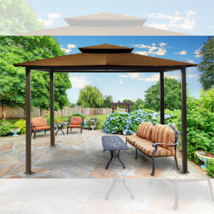 Image of Paragon Outdoor Barcelona 10x12 Gazebo with Cocoa Top