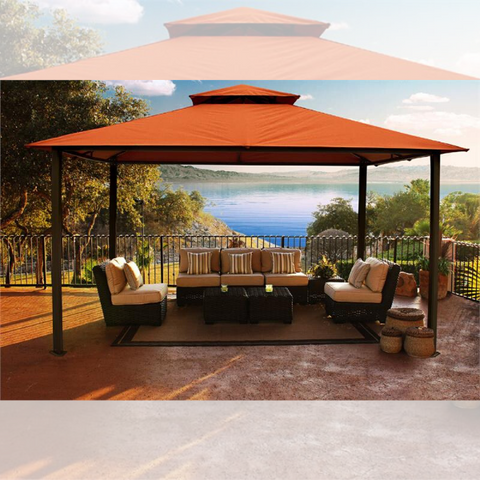 Image of Paragon Outdoor Kingsbury 11x14 Gazebo with Rust Top