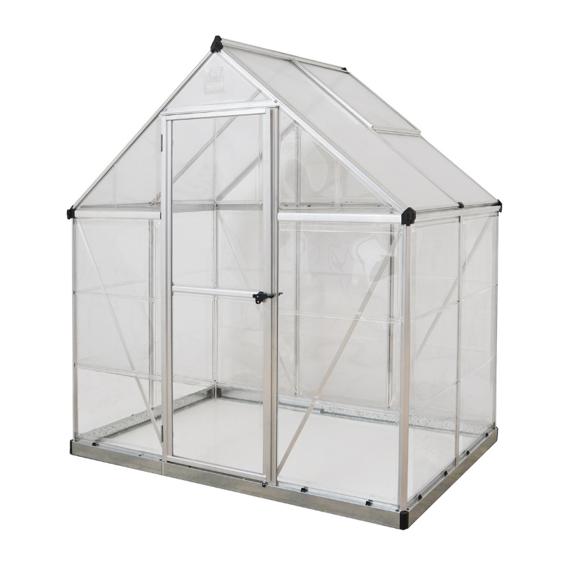 Palram HG5504 Hybrid 6' x 4' Greenhouse Nature Series - Silver