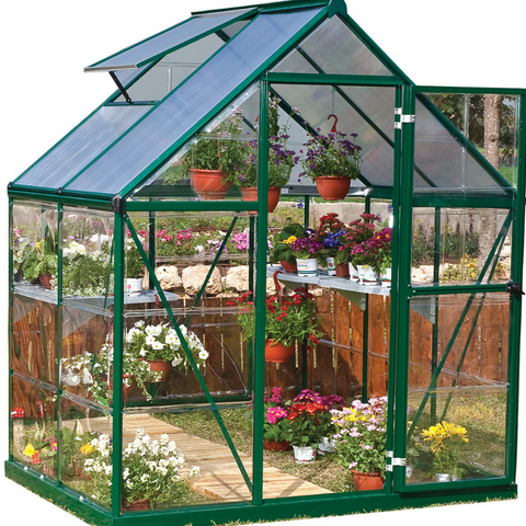 Image of Palram Hybrid 6' x 4' Greenhouse Nature Series - Green - HG5504G