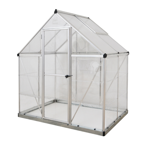 Image of Palram HG5504 Hybrid 6' x 4' Greenhouse Nature Series - Silver