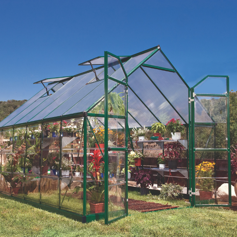 Palram Balance 8' x 12' Greenhouse Nature Series HG6112G