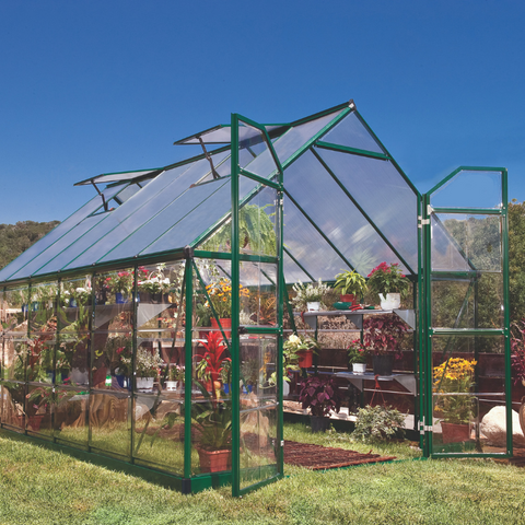 Image of Palram Balance 8' x 12' Greenhouse Nature Series HG6112G