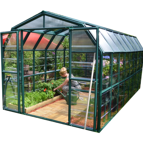Image of Palram Rion Grand Gardener 8' x 16' Greenhouse HG7216C- Clear